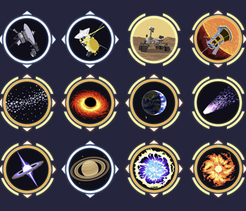 AstroQuest Achievement Icons