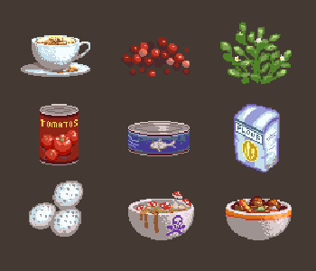 Pixel Art Ingredients